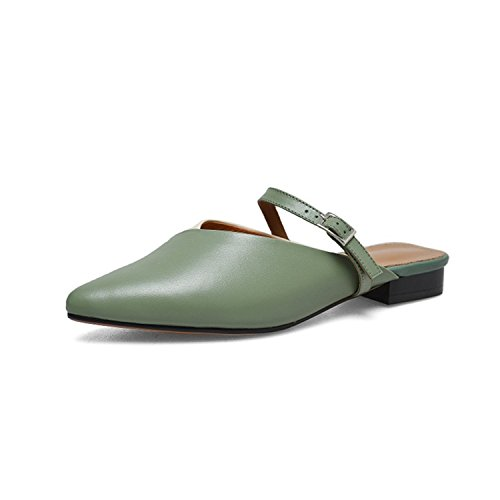 Toe Army Slippers Mules Mixed Women Green Brown 34 Colors Shoes Green vovmi Concise Women Cqw5xf74