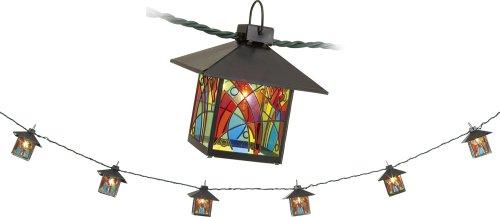 Outdoor Lantern String Lights Bronze - 8