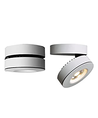 10W LED Spotlight 360°Adjustable Ceiling Downlight Surface Mounted COB Track Lighting LED Aluminum Wall Lamp Two in One Track Light or Spot Light