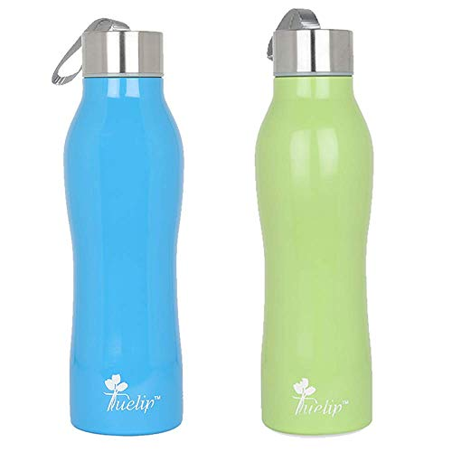 Tuelip Combo Sports Stainless Steel Water Bottle for School Kids Girls & Boys,College,Gym,Sports 750 ML (Blue, Green) Set of 2 Price & Reviews