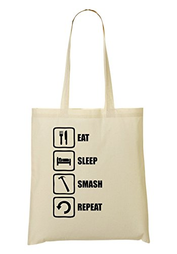 Hammer Eat provisions Funny Sac Sleep tout Sac Smash Repeat Fourre Graphic à xpPwRIprq