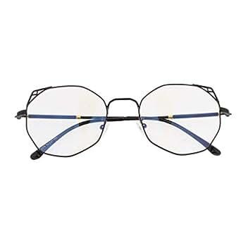IPOTCH Women Spectacle Optical Frame Glasses Clear Lens Travel Elegant Eyeglasses - Black, 14.2cm