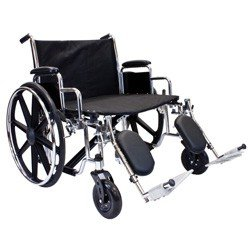 """Extra Wide Bariatric Wheelchair, 28"""" x 20"""" Removable desk-length arms,"""