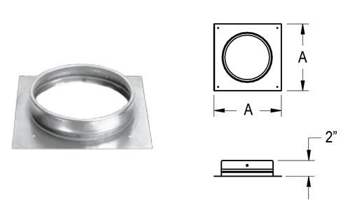 oval chimney adapter - 8