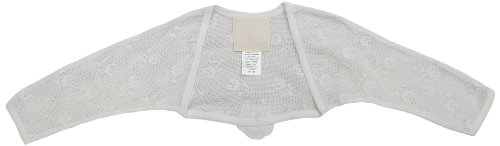 La Piccola Danza Baby Girls' Lace Shrug with Flower Applique