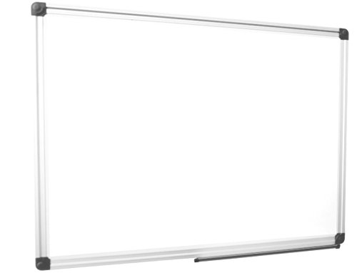 Frictionless Dry Erase Board 48x36 Aluminum Frame Magnetic White Board w/SmoothGlide Surface - Large Area for Writing, Planning, and (Ps Board)