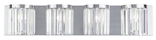 Livex Lighting 50534-91 Ashton 4-Light Bath Light, Brushed Nickel