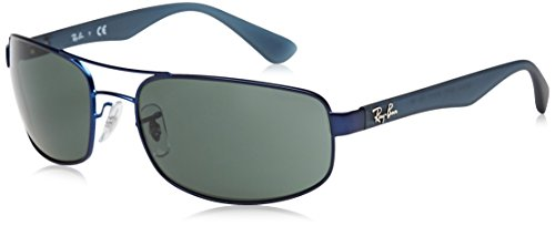 mm Matte Sunglasses Ray Rb3445 61 Blue Rectangular Mens Ban wZw8qOAU