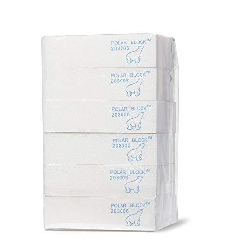 Star Nail Polar Block 4-Sided Nail Buffer Block, Soft White