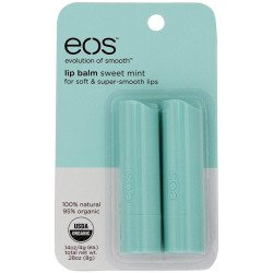Price comparison product image EOS 2 Piece Organic Lip Balm Stick, Sweet Mint, 0.28 Ounce