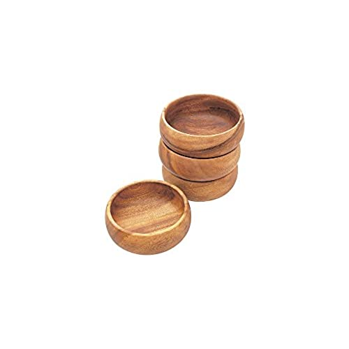 Three Section BowlWood Divided Bowl Small Wooden Bowl Wood ... |Small Wooden Bowls Saucers