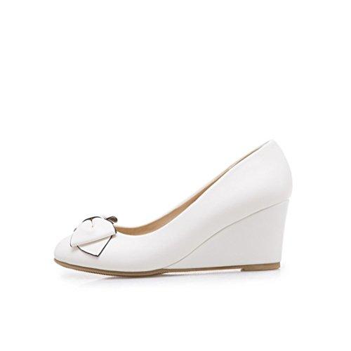 con y Zapatos la Durante de los de de el Tacones Tacón Otoño Pajarita con white Primavera Estudiantes Mujer Zapatos Altos Pendiente Mujer w4qUSXzw