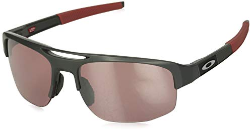 Oakley Men's OO9424 Mercenary Rectangular Sunglasses, Matte Carbon/Prizm Dark Golf, 70 ()