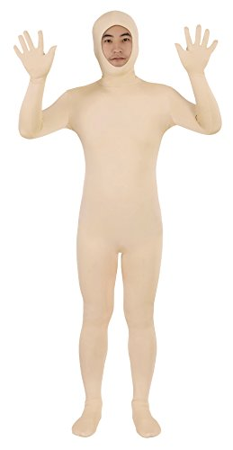 Sheface Spandex Open Face Zentai Suit Halloween Costumes (XX-Large, Skin) -