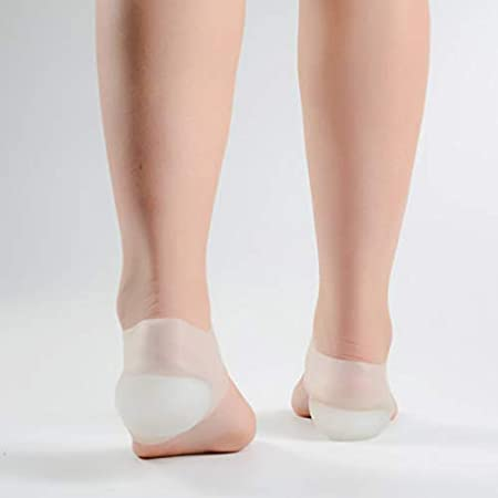 2CM Nude Gelentea Paire de Semelles de Talon Invisibles pour soulager la Douleur pour Homme et Femme