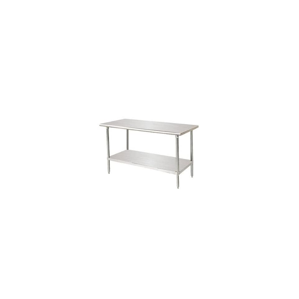 """Advance Tabco MS 309 30"""" X 108"""" Stainless Steel Commercial Work Table W/ Stainless Steel"""