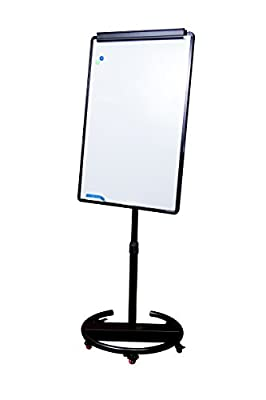 "Round Base Whiteboard on Wheels – Magnetic Mobile Whiteboard 28""x40"""