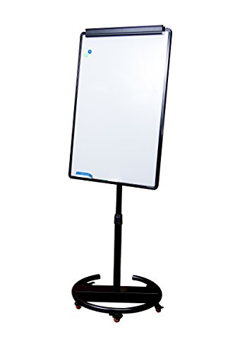 "Round Base Whiteboard With Wheels – Magnetic Mobile Whiteboard 28""x40"""