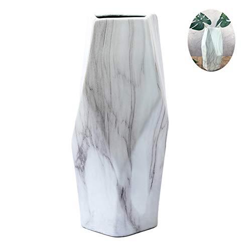 white marble flower pot - 9