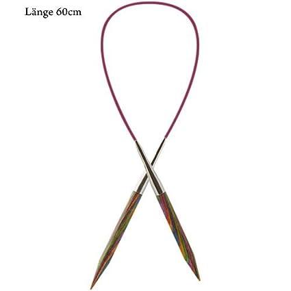 60cm de longitud de la cuerda Agujas para hacer punto redondas Knit Pro