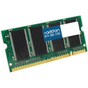 AddOn Toshiba KTT800D2/1G Compatible 1GB DDR2-800MHz Dual Rank Unbuffered 1.8V 204-pin CL6 Factory Original SODIMM - 100% compatible and guaranteed to work - KTT800D2/1G-AAK