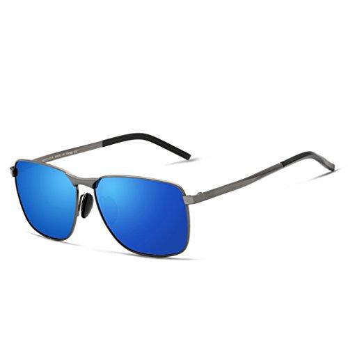 de amp;Gafas Color sol comerciales cuadrado los de Gafas de sol Gafas de de retro 3 hombres los LYM marco del clásicas sol hombres polarizadas sol de Gafas protecciónn amp; Gafas 4 de gCZW5q