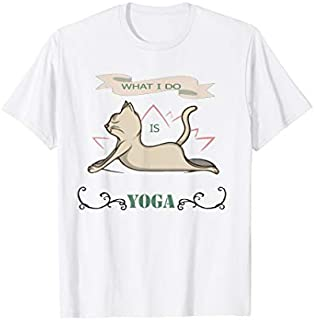 Best Gift Cat Yoga  What I Do Is Yoga and stretching,yoga  Need Funny TShirt / S - 5Xl