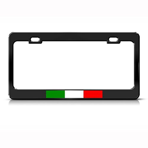 Jesspad Italy Italian Italiano Flag Country Black Metal Cooper License Plate Frame Cover Gills - 12