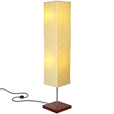 Brightech - Tranquility LED Floor Lamp for Living Rooms & Bedrooms – Mid Century Modern Minimalist, Ambient Light – Perfect for Beside The Bed or Office, Corner Lamp - Havana Brown - GORGEOUS MODERN LAMP THAT LOOKS GREAT WITH ANY DÉCOR: The Tranquility LED Floor Lamp looks beautiful amid contemporary, mid century modern, or industrial décor. It has an extended open top and a neutral linen shade that hovers over a symmetric square base (10 x 10 inches) of solid Havana Brown wood. The unique modern style and size of this lamp makes it the perfect corner, bedside, office, or living room lamp. BEAUTIFUL WARM LIGHT FOR HOME OR OFFICE: The Tranquility Lamp is aptly named- it gives off warm, tranquil light that will create a cozy and comfortable space for any room in your home or office. This lamp is the perfect couch or bedside lamp that gives off soft beautiful lighting to enlighten your bedroom, living room, den, nursery, meditation room, or office. This lamp does not have the glare of overhead lights or exposed bulbs as its neutral linen shade softens the light giving your room a war LONG LASTING & ENERGY SAVING INDOOR LAMP: Included in the Tranquility's package are two 5 Watt power saving LED light so that you will never have to replace a bulb. The advanced 2,700K warm white LED technology with 550 lumens for each bulb allows this lamp to outshine lamps that depend on short lived, energy consuming standard halogen or incandescent bulbs. This LED lighting will endure for more than 20 years without burning out or overheating. - living-room-decor, living-room, floor-lamps - 31XAuvxbsbL. SS400  -
