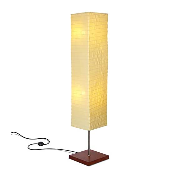 Brightech – Tranquility LED Floor Lamp for Living Rooms & Bedrooms – Mid Century Modern Minimalist, Ambient Light – Perfect for Beside The Bed or Office, Corner Lamp – Havana Brown