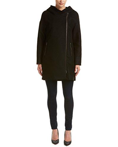 Soia & Kyo Womens Kenzie Wool & Cashmere-Blend Peacoat, M, Black - Kyo Black Wool