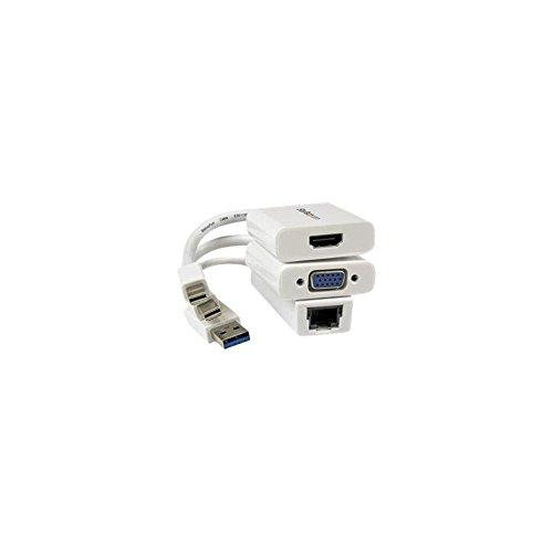 StarTech.com VGA HDMI Gigabit Ethernet Adapter Kit for MacBook Air - Notebook accessories bundle - white - for Apple MacBook (Startech Notebook Accessory)