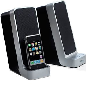 iHome iP71 Computer Stereo System with Dock for iPhone/iPod (Silver) by Sound Design