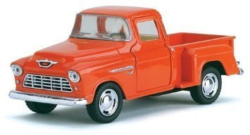 1955 Chevy Stepside Pick-Up Die Cast Collectible Toy Truck (Orange) ()