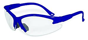 SSP Eyewear Safety Glasses with Blue Frames & Clear Anti-Fog Shatterproof Lenses, COLUMBIA BLU CL A/F