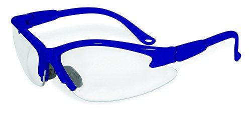 - SSP Eyewear Safety Glasses with Blue Frames & Clear Anti-Fog Shatterproof Lenses, COLUMBIA BLU CL A/F