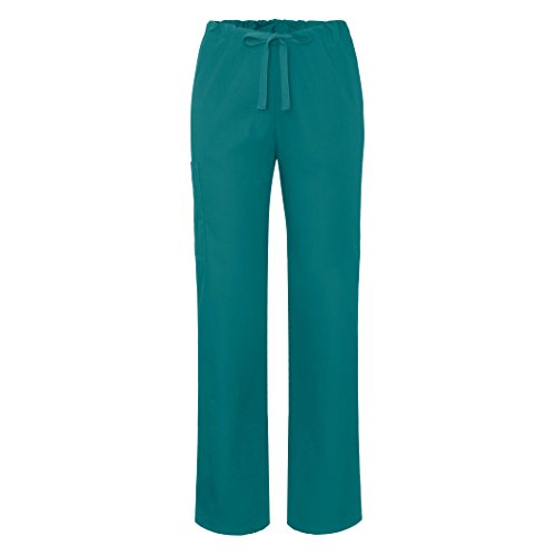 Adar Universal Unisex Natural-Rise Drawstring Tapered Leg Pants - 504P - TBL - S Teal Blue