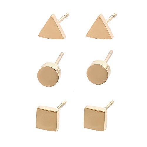 Gold Square Jewelry Set - 5