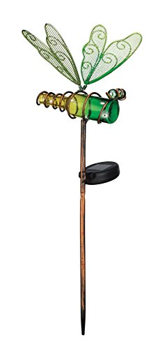Regal Art & Gift Mini Solar Dragonfly Stake, Green by Regal Art & Gift