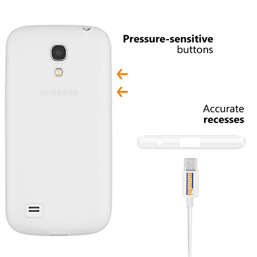 mumbi double GRIP Hülle für Samsung Galaxy S4 mini Schutzhülle transparent weiss