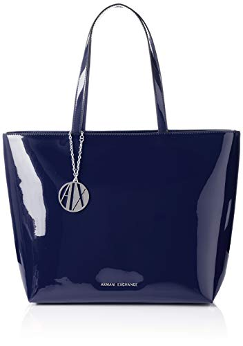 A|X Armani Exchange Zip Top Shoulder Bag, Navy 226 (Lightweight Jeans Armani)