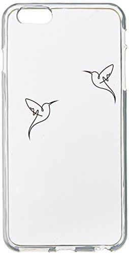 OTM Essentials Hummingbirds, iPhone 6/6s Plus Clear Phone Case (Hummingbird Iphone 6 Plus Case)