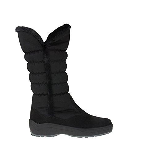 tessamino Damen Stiefel aus Tex-Membran und echtem Leder | Weite H Schwarz