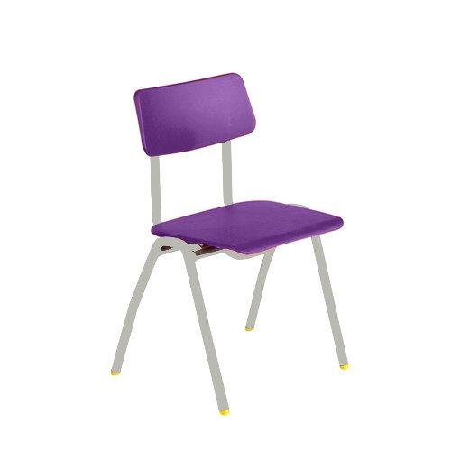 Metalliform bsb-lg-purple standard Classroom sedia con sedile 310mm, viola