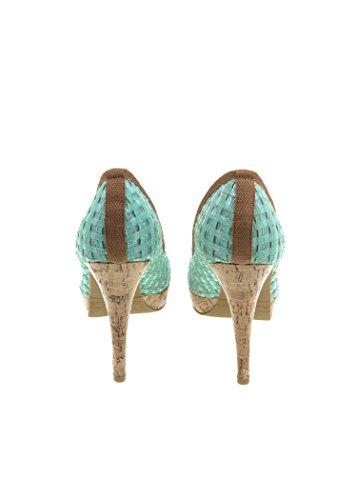 CafèNoir Women's Court Shoes Blue turquoise MjJWl4qU