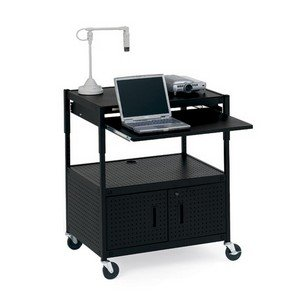 Bretford Presentation (Height Adjustable Multimedia Presentation AV Cart Electric Capability: Included)