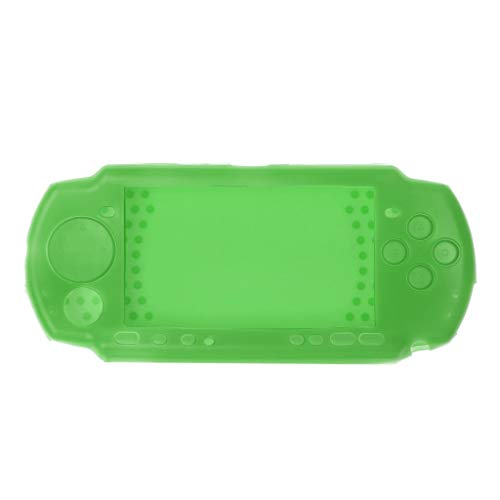 (Protective Soft Rubber Silicone Skin Case Cover for PSP 2000 3000 Green)