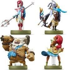 Amiibo Mipha  Urbosa  Daruk  And Revali    Bundle Of 4    Us Version    The Legend Of Zelda  Breathe Of The Wild
