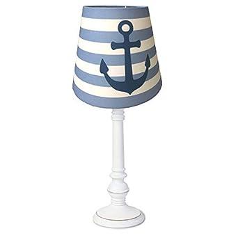 Dannenfelser Tischlampe Anker Nachttischlampe Tischleuchte Rund