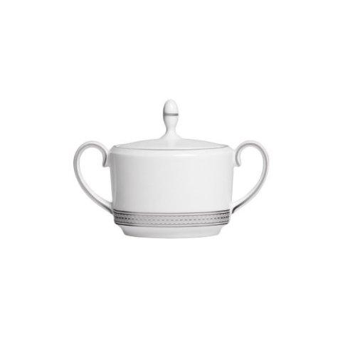 Vera Moderne Sugar Bowl with Lid (Wang Platinum Vera Bowls)